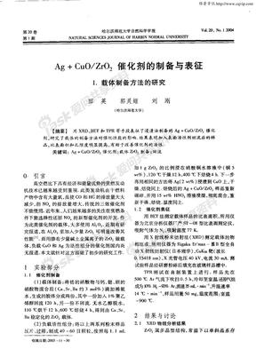 Ag+CuO/ZrO2催化剂的制备与表征 1.载体制备方法的研究