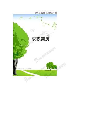 2010款漂亮简历封面