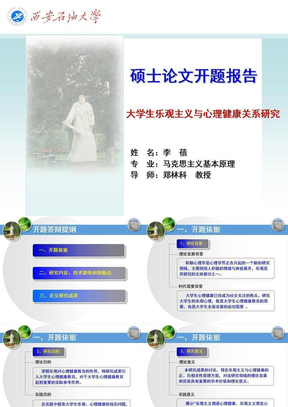 论文开题报告 ppt课件