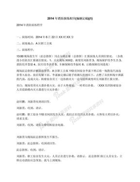 2014年消防演练程序(编制定稿)(1)