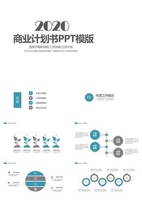 商业计划书创业计划书项目融资ppt模板 2