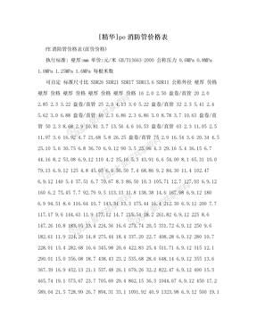 [精华]pe消防管价格表