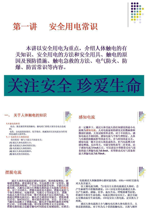 安全用电常识ppt课件(1)