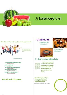 健康饮食英语ppt课件