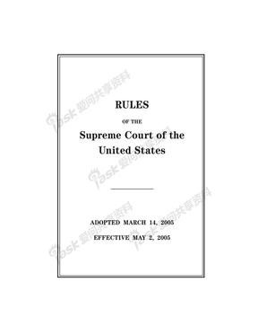 美国最高法院规则