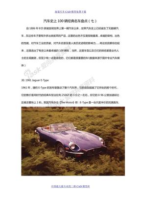 汽车史上100辆经典名车盘点(八)