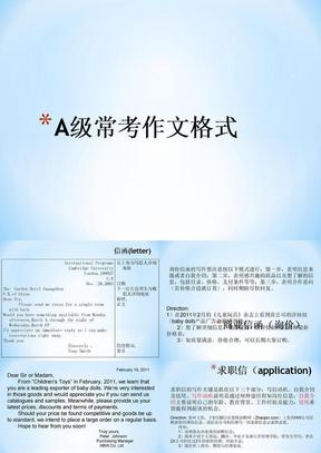 大学英语a级考试作文模版 .ppt