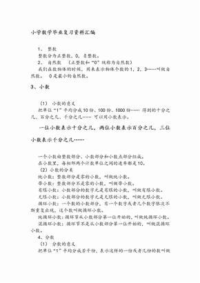 北师大版数学六年级小升初复习资料.doc