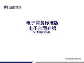 电子商务标准版电子合同介绍