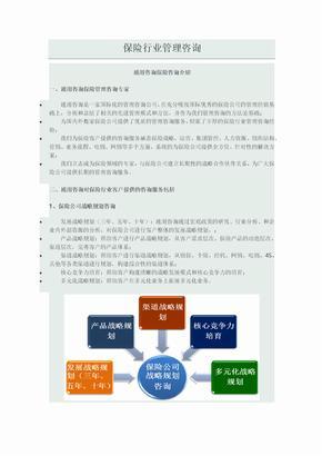 通用咨询保险行业管理咨询方案