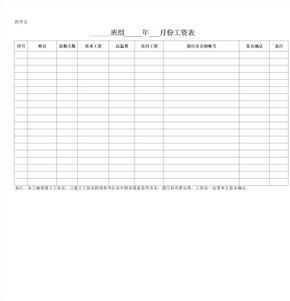 建筑工地工人工资表范本.xls