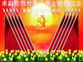 重温红色经典-坚定理想信念-主题党日