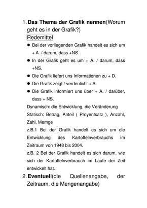 德语作文 图表描述