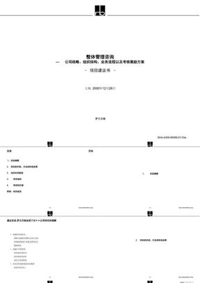 整体管理咨询项目建议书