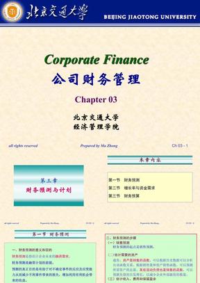 财务预测与计划