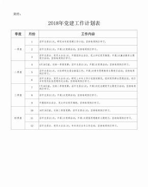 党建工作计划表.xls