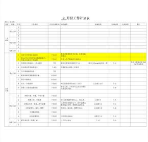 月度工作计划表.xls