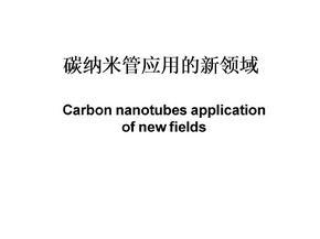 碳纳米管应用的新