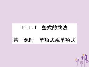 八年级数学《整式的乘法与因式分解》整式的乘法14.1.4整式的乘法第1课时单项式乘单项式习题课件